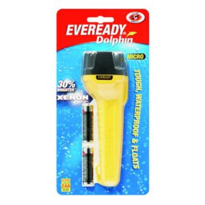 Energizer Torch Compact, Dolphin Micro with 2AA batteries - Waterproof Light, DOL2AA2