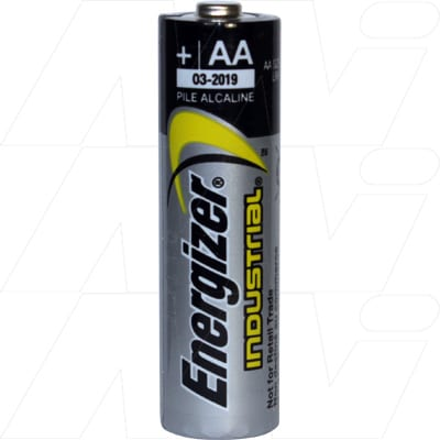 1.5V AA Alkaline Industrial Cylindrical Cell Cell, 14.5mAh, Energizer, EN91