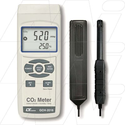Lutron Carbon Dioxide & Humidity Meter, GCH-2018