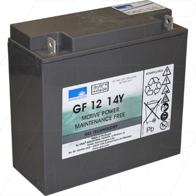 12V 15Ah Sonnenschein GF-Y Range (dryfit A500 cyclic) SLA Battery, GF12014YF