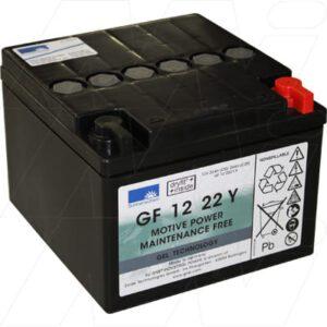 12V 24Ah Sonnenschein GF-Y Range (dryfit A500 cyclic) SLA Battery, GF12022YF