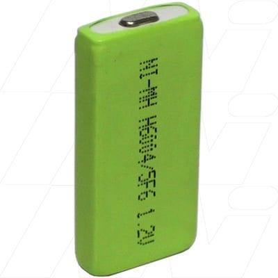 1.2V 4/5F6 Nickel Metral Hydride - NIMH Prismatic Cell, 600mAh, Mst, H600-4/5F6