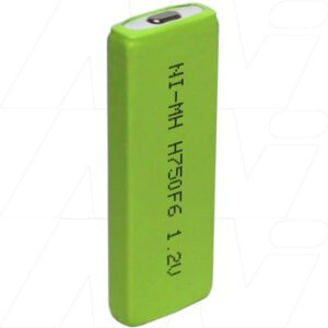 1.2V F6 Nickel Metral Hydride - NIMH Prismatic Cell, 750mAh, Mst, H750-F6