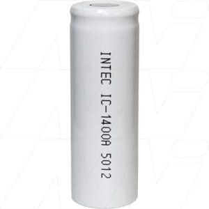 1.2V A Nickel Cadmium - NiCd Industrial NiCd Cylindrical Cell, 1400mAh, Intec, IC1400A