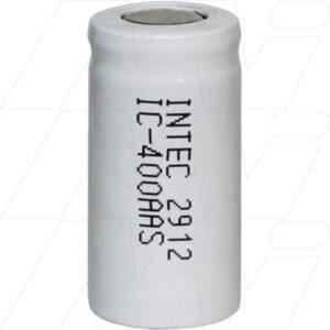 1.2V 2/3AA Nickel Cadmium - NiCd Industrial High Capacity NiCd Cylindrical Cell, 400mAh, Intec, IC400AAS