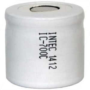 1.2V 1/2C Nickel Cadmium - NiCd Industrial Standard Cylindrical Cell, 700mAh, Intec, IC700C