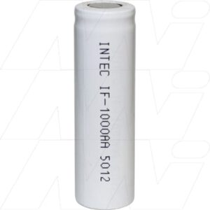 1.2V AA Nickel Cadmium - NiCd Industrial High Capacity Cylindrical Cell, 1000mAh, Intec, IF1000AA