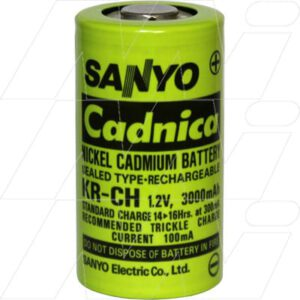 1.2V C Nickel Cadmium - NiCd Industrial High Temperature Cell , 300mAh, Pansonic, KR-CH(3.0Ah)