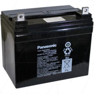 12V SLA Battery, 33Ah, Panasonic, LC-R1233P