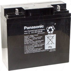 12V SLA Battery, 21Ah, Panasonic, LC-XC1221P