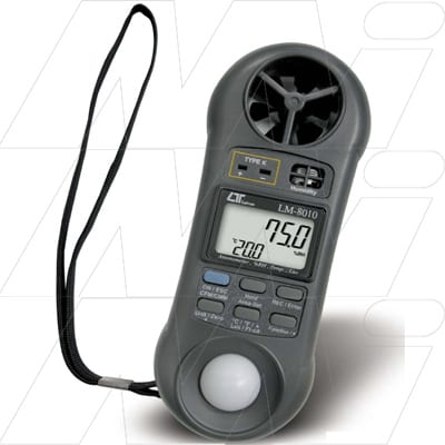Lutron 4 in 1 Meter. Anemometer, Humidity meter, Light Meter & Temp. K Type T/Couple, LM8010