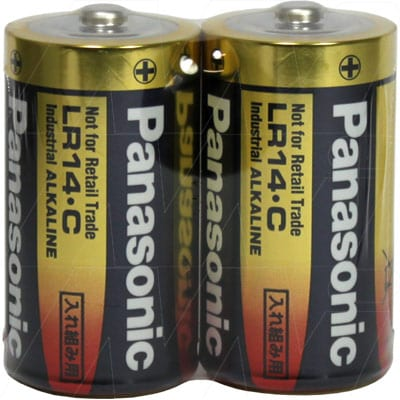 1.5V C Alkaline Industrial Cylindrical Cell Cell, 26.2mAh, Panasonic, LR14XW/2SK