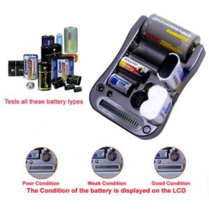 Battery Tester for Primary Batteries, MW333
