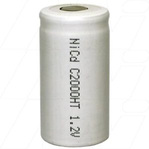1.2V C Nickel Cadmium - NiCd Industrial High Temperature Cylindrical Battery, 200mAh, Mst, NC-C2000HT
