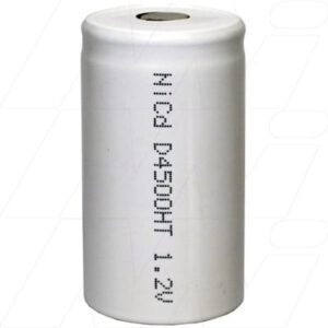 1.2V D Nickel Cadmium - NiCd Industrial High Temperature Cylindrical Battery, 4500mAh, Mst, NC-D4500HT