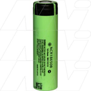 3.6V Lithium Ion High Capacity Cylindrical Battery 3.35Ah, Panasonic, NCR18650B
