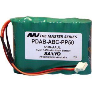 ABC Portable Printer Battery, 6V, 1600mAh, NiMH, SB-ABC-PP50