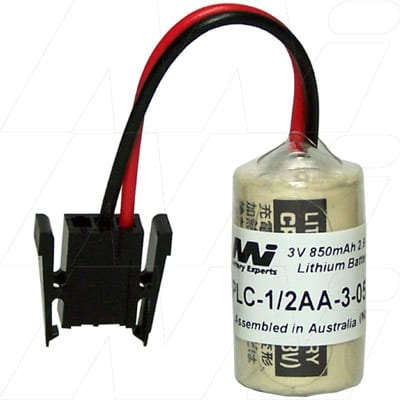 3V 1/2AA Specialised Lithium Battery 850mAh, PLC-1/2AA-3-057