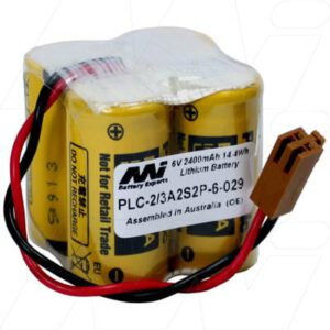 6V Specialised Lithium Battery 1200mAh, PLC-2/3A2S2P-6-029