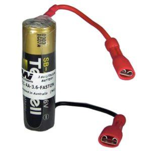 3.6V AA Specialised Lithium Battery 2400mAh, PLC-AA-3.6-FASTON