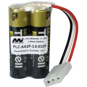 3.6V AA Specialised Lithium Battery 4800mAh, PLC-AA2P-3.6-032H