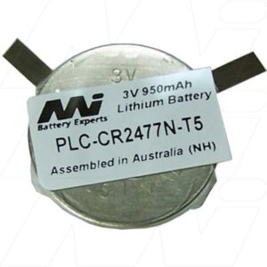 3V Coin 950mAh Coin PLC-CR2477N-T5 Specialised Lithium Battery, Mst