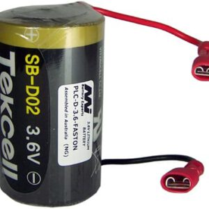 3.6V D Specialised Lithium Battery 19000mAh, PLC-D-3.6-FASTON
