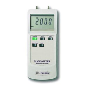 Lutron Manometer - 200 Mbar Differential Pressure Input, PM9100HA