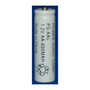 1.2V AA Nickel Cadmium - NiCd Standard Cylindrical Cells, 600mAh, Power-Sonic, PS-AAL