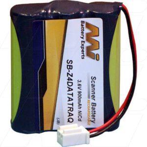 ASP Microcomputers Portable Printer Battery, 3.6V, 900mAh, NiCd, SB-Z4DATATRAQ
