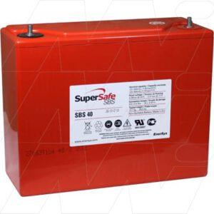12V Sealed Lead Tin PowerSafe SBS 38000mAh, PowerSafe, SBS40