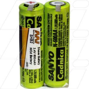 Eltron 100 Shaver / Personal Grooming Battery, 2.4V, 600mAh, NiCd, SHB2