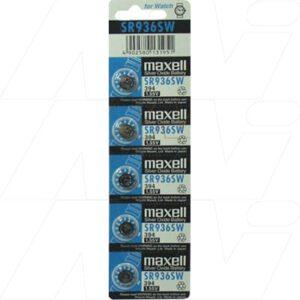 1.55V Silver Oxide Button / Coin Cell 70mAh, Maxell, SR936SW-BP5