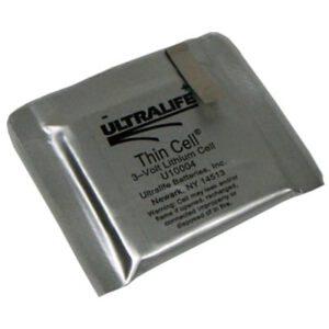 3V Lithium Manganese Dioxide Pouch 1500mAh, Ultralife, U10004