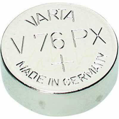 1.55V Silver Oxide Button / Coin Cell 145mAh, Varta, V76PX-BP1