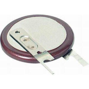 3V Button / Coin Lithium Vanadium Pentoxide Rechargeable Cell 20mAh, Panasonic, VL2020-1VCE