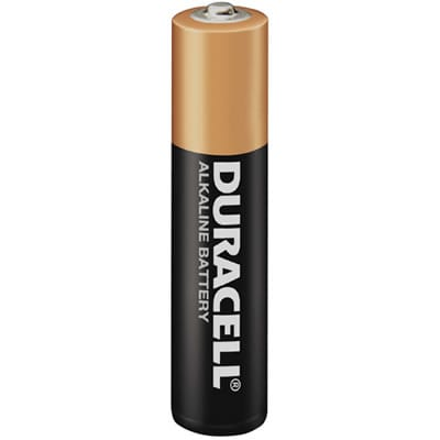 1.5V AAA Alkaline Consumer Cylindrical Cell Coppertop, Duracell, 30005992 / MN2400