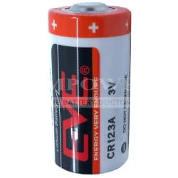 3V Lithium Photo Battery replaces CR123A, CR123AS, DL123A, EL123A, K123L 1.55Ah, EVE, CR123A