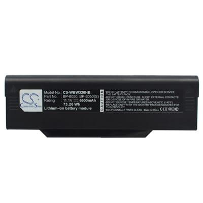11.1V 6600mAh Mitac 8050 WBW320HB Battery