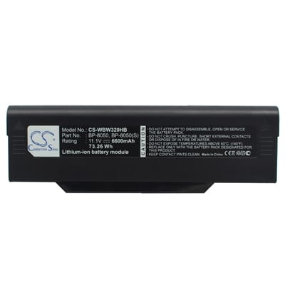 11.1V 6600mAh Packard Bell R1 WBW320HB Battery