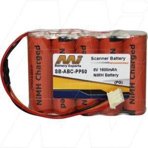 6V 1600mAh American Barcode PP50 SB-ABC-PP50