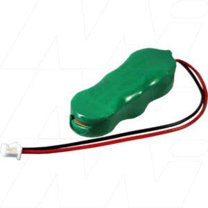 7.2V RBC Nickel Metal Hydride - NIMH Button / Coin Battery Pack, 15mAh, Varta, 6/V15H-3E158 Laptop