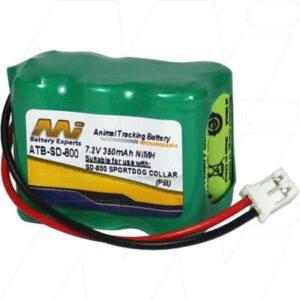 7.2V Sportdog 650-104 ATB-SD-800 Battery