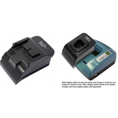Power Tool Battery Adaptor Plate Mst 14.4V - 18V LiIon for ACMTE Power Tool Battery Charger, Mst, ATP1230