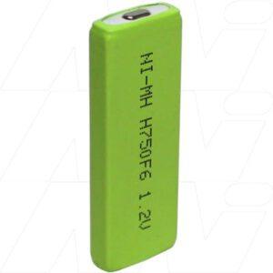 Yuasa HFY-6 MP3 / MP4 / Portable Disc Battery, 1.2V, 750mAh, NiMH, H750-F6