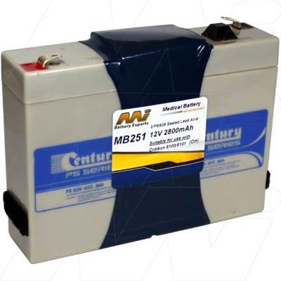 12V Critikon Inc 8100 MB251 Battery