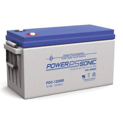 12V 214.4Ah Powersonic AGM Deep Cycle Sealed Lead Acid (SLA) Battery, PDC-122000