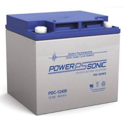 12V 40.7Ah Powersonic AGM Deep Cycle Sealed Lead Acid (SLA) Battery, PDC-12400