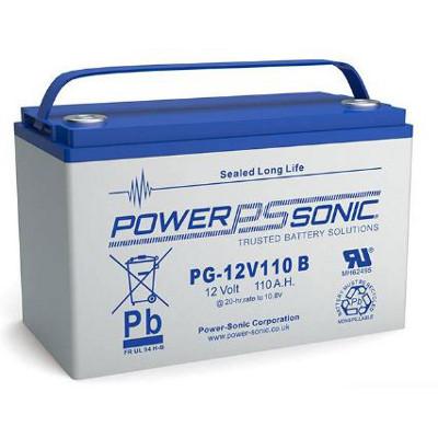 12V 120Ah Powersonic AGM Long Life Sealed Lead Acid (SLA) Battery, PG-12V110 FR