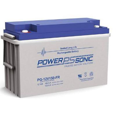 12V 153Ah Powersonic AGM Long Life Sealed Lead Acid (SLA) Battery, PG-12V150 FR